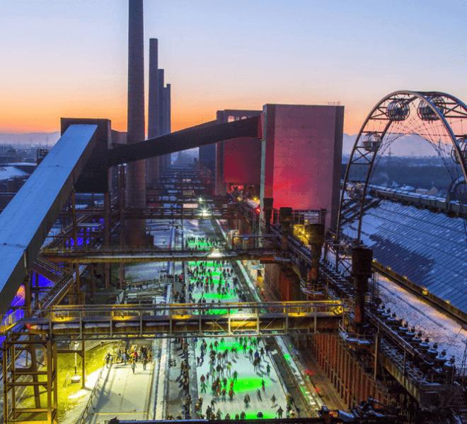 Kokerei Zollverein Eisbahn Ruhrgebiet Essen Umgebung Hotel An der Gruga
